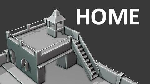 Home design in blender workbench render