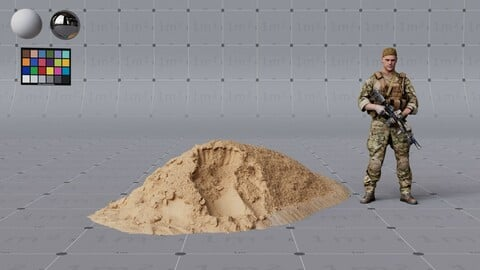 Sand Pile - high quality, render ready - 4K PBR textures