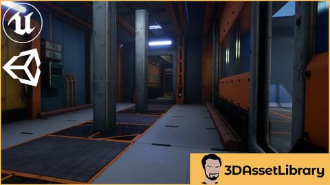 Sci-Fi Interior Vol 1 For Unreal And Unity
