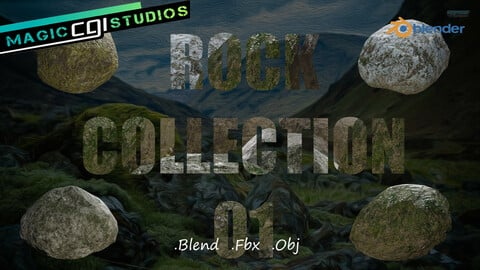 Rock Collection 01 - Low Poly Asset Pack