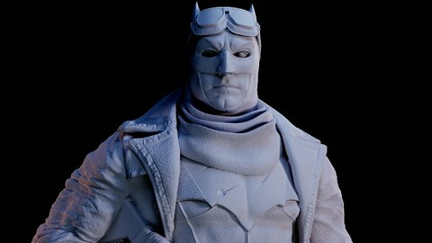 Knightmare Batman Bust for 3d printing scale 1-6