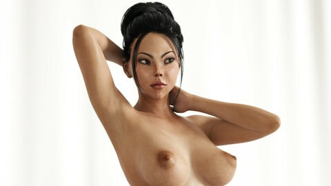 Asian woman full rigged