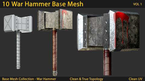 10 War Hammer Base Mesh VOL.01