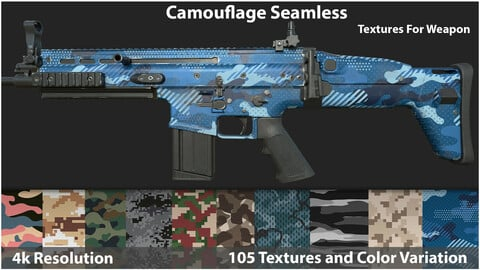 Camouflage Seamless - Textures For Weapon