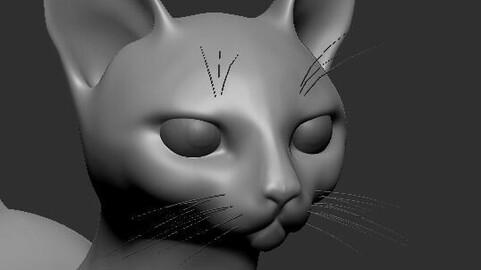 Base Mesh Cat Sfinx