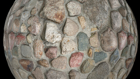Scanned PBR stone wall 4k metal roughness texture