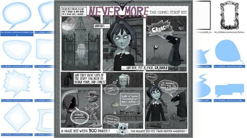 Mister Whiskers' Nevermore: the gothic comic strip graphics pack