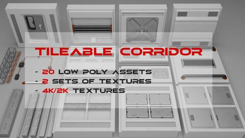 Sci-Fi Modular Corridor - Game-Ready Assets