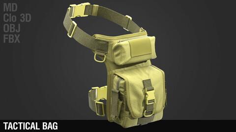 Tactical Bag / Marvelous Designer / Clo 3D project + obj + fbx