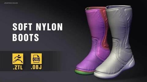 Soft nylon boots (.ZTL+.OBJ)