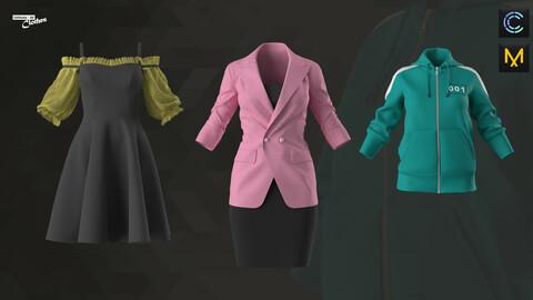 Women Party Dress, Office Blazer, Squid Game - 78 Marvelous Designer and Clo3D