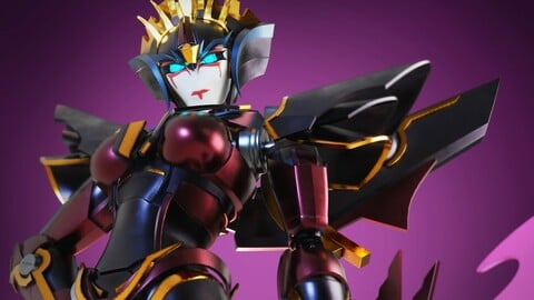 Windblade Transformers Prime 3D Character Rig