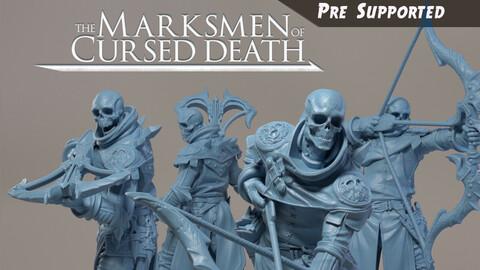 Archer Skeleton Miniatures, 3D Print, Resin, STL