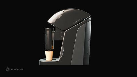 Sci Fi Coffee Machine Game Ready
