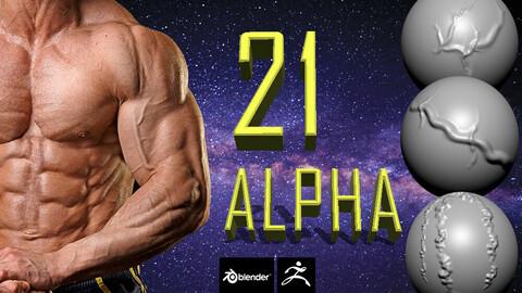 Package of 21 ALPHA veins