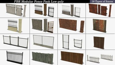Modular Fence Pack PBR