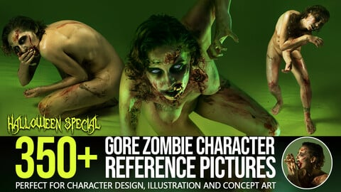350+ Gore Zombie Character Reference Pictures