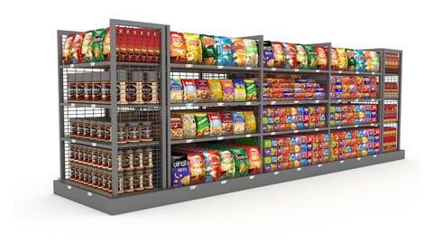 3D Market snack section