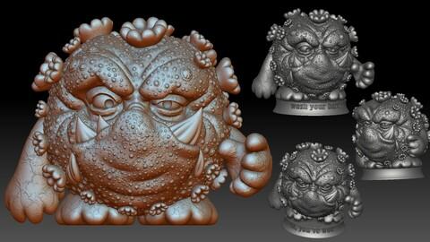 Covid Coronavirus monster 3D printable model