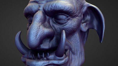 HEAD14 high poly sculpt