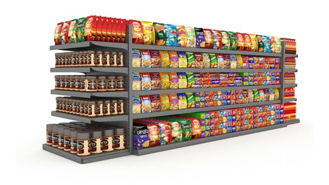 3D nuts and chips store model