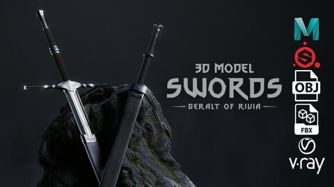 3D model Swords