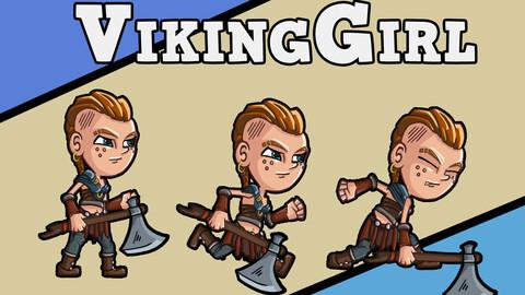 Sprite 2D Viking Girl