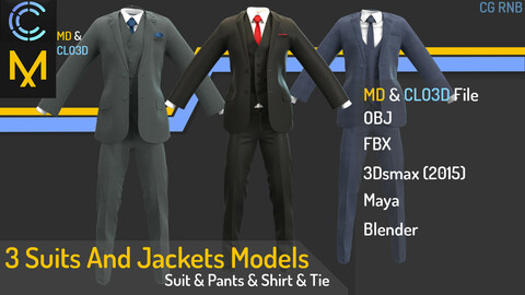 3 Suits And Jackets Models