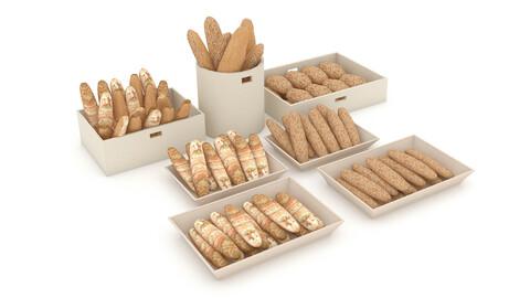 3d bread types 02 model