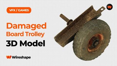 Damaged Board Trolley Raw Scanned 3D Model