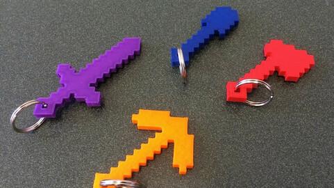 3d model Minecraft tools