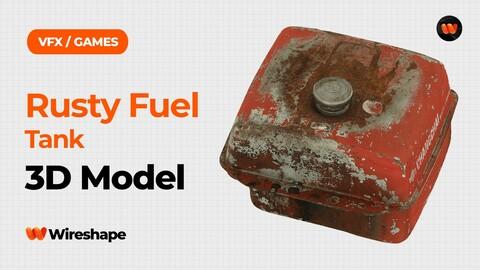 Rusty Fuel Tank Raw Scanned 3D Model