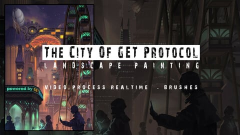 Landscape Painting - The City Of GET Protocol