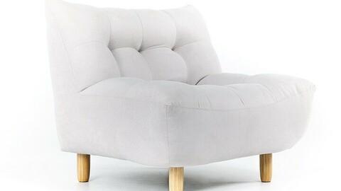 Fog Fabric 1 Seater Sofa