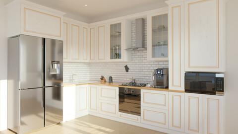 House Kitchen Photorealistic