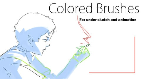 Colored brushes for animation and undersketch (for csp)