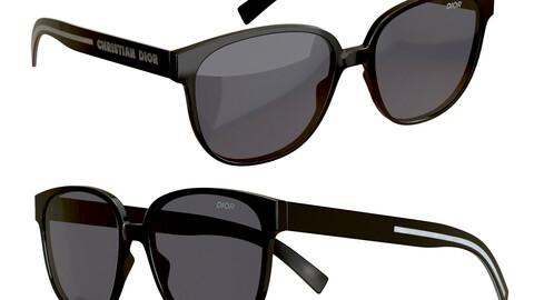 3D Model of Dior Flag 1 Sunglasses