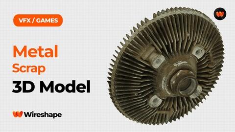 Metal Scrap Raw Scanned 3D Model