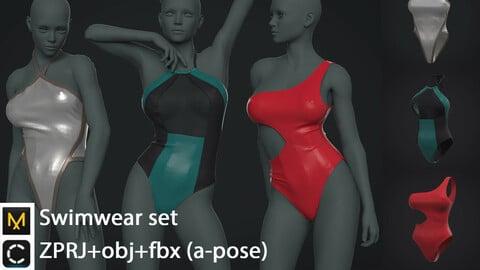 Swimwear set | clo3d | marvelous designer