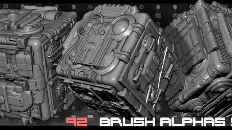 Zbrush Alphas Scifi  92