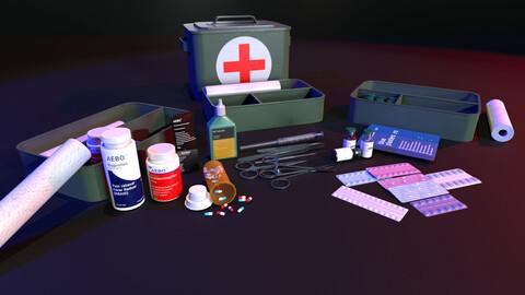 Pack kit medical 4k PBR for unity