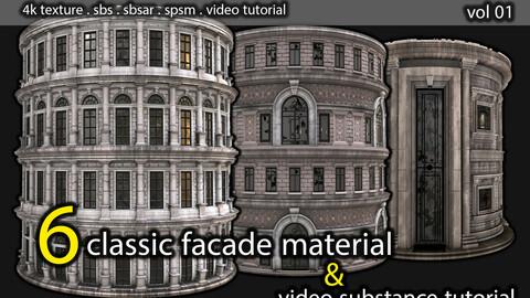 facade material pack