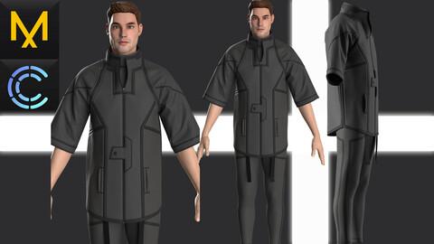 Cyberpunk concept Marvelous Clo3D Outfit Male# 23
