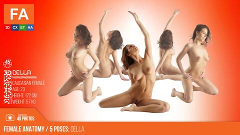 Female Anatomy | Della 5 Various Poses | 40 Photos #2