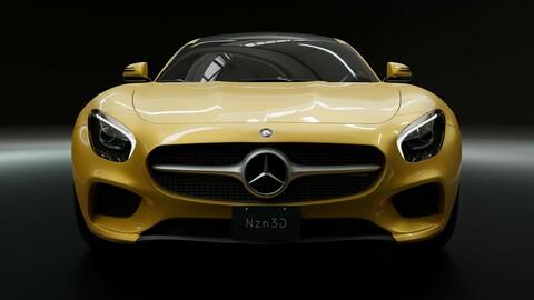 Car 3D Model Mercedes AMG GT