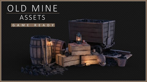 Old Mine Assets (game-ready)