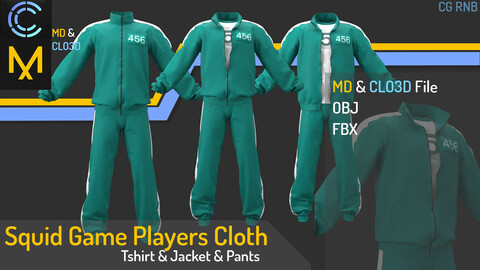 Squid game players cloth