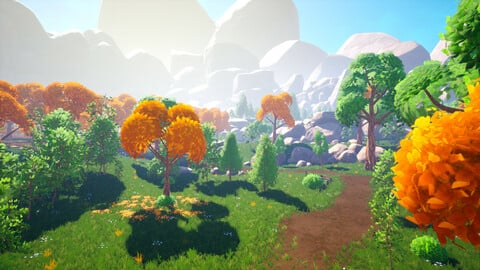 Stylized Canyon Forest - Unreal Engine Stylized Asset