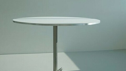 Willy Round Table Cafe Series Silver Edge HPL Material