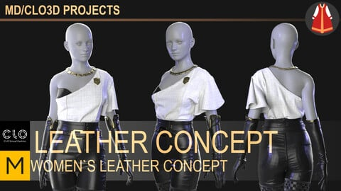 Women`s leather concept